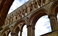 Cathedrals 4 (orientalizing) Tags: 13thcenturyad abandoned arcaded archaia architecture desktop featured gothic jedburghabbey nave ruins scotland