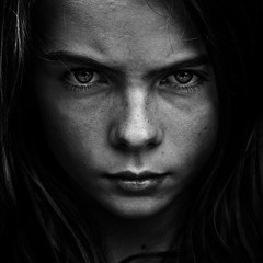 Ami (.Betina.) Tags: portrait portraiture betinalaplante bb dark 2017 ami monochrome mood mono moody mouth girl woman childhood eyes face