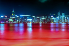 Bloody Hong Kong (Lemuel Montejo) Tags: night longexposure water reflection hong kong skyline buildings architecture city boat sail sailboat lemuelmontejoartworks mvisuals