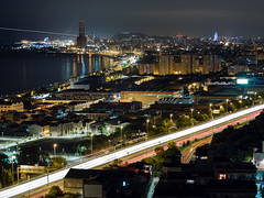 Badalona (alimoche67) Tags: josejurado olympus omdem1 nocturna ciudad luces barcelona badalona montgat santadriàdebesòs costa