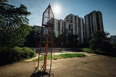 Block 62 (Mathijs Buijs) Tags: playground metal rocket sun residential concrete block 62 novi beograd new belgrade serbia balkans eastern europe canon eos 5d mark mk iii