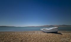 Little boat. (PvRFotografie) Tags: greece griekenland lesbos lesvos landscape landschap sea seashore seascape nature natuur view views kalloni skala sonyilca99m2 12mm 1224mm sigma1224mm sigma12244556 sigma1224mmf4556dgiihsm leesw150 leebigstopper leepolarizer