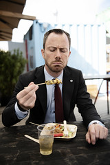 """""""I have also eaten raw seal liver, which still was warm, pickled puffin and yak testicles in Nepal"""" (' A r t ') Tags: winner minister for environment food jakob ellemannjensen man ministry eat altinget magasin august frontpage cover"""