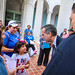 Mayor Garcetti speaking at the National TPS Alliance's Journey for Justice Caravan Launch