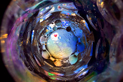 In fondo... 💗 (M a r i S à) Tags: water drop oil circle colours colorful drops abstract macro blue fluid liquid round blob float smooth abstrac