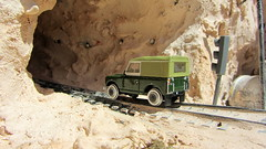 1:76 Scale Diecast Model Land Rover Series II SWB Canvas/Rails Oxford Commercials Rail Track 00 Gauge Railways By Oxford Diecast Limited Swansea Wales United Kingdom 2017 : Diorama Futuristic Quarry - 20 Of 24 (Kelvin64) Tags: 176 scale diecast model land rover series ii swb canvasrails oxford commercials rail track 00 gauge railways by limited swansea wales united kingdom 2017 diorama futuristic quarry