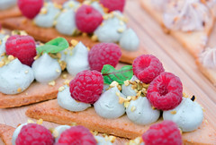 Raspberry pastry dessert (ella.o) Tags: food raspberry pastry dessert cookie cream sugar