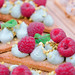 Raspberry pastry dessert