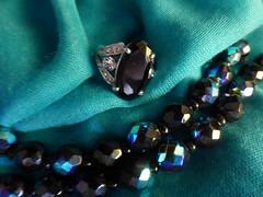 Preciosa!!  P1050857 (amalia_mar) Tags: smileonsaturday blackbeauty ring necklace jewelry traditionalczechbeads preciosa smile