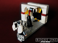 "Rogue One: A Star Wars Story - ""Take it!"" (KevFett2011) Tags: kevfett2011 star wars rogue one darth vader sith lord lego art artist hobby build building 2018 vignette story rebels lightsaber red force blaster flickr photostream"