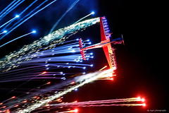 Oshkosh at night (dpsager) Tags: 2018 dpsagerphotography eaaoshkoshairshow ghostwriter nathankhammond oshkosh wisconsin aircraft airplane airshow dehavillandchipmunk eaa airventure osh18