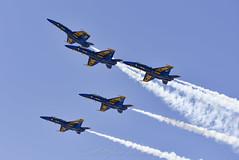Blue Angel Number 2 Peeling Off (Scott_Nelson) Tags: seattle washington unitedstates us seafair aircraft airplanes airshow boeingfield