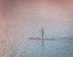 Paddle happy. (Omygodtom) Tags: existinglight abstract people river contrast paddle nikon70300mmvrlens nikon 7dwf sunshine sunrise calm yuppy