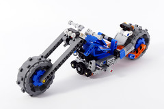 """Chopper - Lego Technic 42071 Alternate MOC (""""grohl"""") Tags: chopper bike motorbike motorcycle harley mc dozer compactor cmodel car vehicle transport landfill lego technic 42071 functions function feature ride grohl666 grohld roader road speed usa"""
