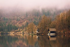 0811 The Fog Is Gone (Hrvoje Simich - gaZZda) Tags: landscape outdoors noperson lake pond water reflections forest trees building house travel bohinj slovenia europe nikon nikond750 sigma150500563 gazzda hrvojesimich
