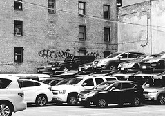 Stacked Parking (Demmer S) Tags: street parking cars automobiles stackedparking parked building streetphotography shootthestreet streetshots documentary citylife urban city outside urbanphotography streetscene urbanexploration outdoors facade wallscape architecture architectural urbandetails windows car automobile window cities words text graffiti scribbles visual exterior surface marks writing scribbled scrawls scribbling scrawled markings doodles streetart graffitiart urbanart wallart streetartistry doodle drawing wall buildingart graffitiphotography nycgraffiti graffitiphotographer ny newyork nyc newyorkcity manhattan eastcoast downtownmanhattan downtownnewyork lowermanhattan financialdistrict monochrome blackandwhite blackwhite bw blackwhitephotos blackwhitephoto