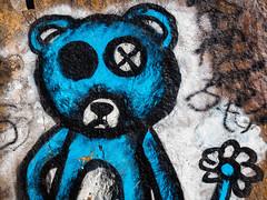 BLACK 'EYED' BLUE (CUCKOOPHOTHOG) Tags: m43 rockart dogs walking trail color 1240mmf28pro em5markii omd olympus