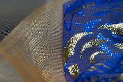 Meshed Organza (steve_whitmarsh) Tags: macro closeup art mesh blue orange colour macromondays