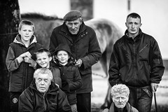 Faces of the horse fair (Frank Fullard) Tags: frankfullard fullard candid street portrait ballinasloe horse fair galway irish ireland young old generations monochrome blackandwhite blanc noir timeless