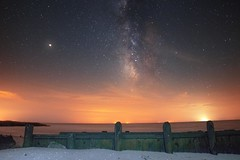 Galactic View from East Point Lighthouse, NJ (Douglas Heusser Photography) Tags: river maurice bay delaware jersey new no lighthouse point east mars beach heusser photography canon space galaxy cosmos star stars way milky astronomy astrophotography 14mm exposure long angle wide rokinon lens
