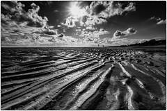 tidelands (ingrid.lowis) Tags: bw schwarz weis wattenmeer tideland sea nordsee northsea föhr germany clouds