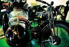 Vintage DKW motor bike with sidecar (mkk707) Tags: film leicar7 leicasummiluxr50mm2ndmodel11776 kodakportra800 35mmfilm analog itsaleica vintagelens vintagefilmcamera motorbike oldtimer germancameras