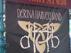 Their banner (jamica1) Tags: derina harvey band performers celtic atlantic down east revelstoke bc british columbia canada