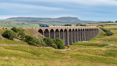 On top of the world (Mark Gowing) Tags: 66303 ribbleheadviaduct train viaduct ribblehead yorkshire directrailservices class66