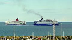 18 08 10 Oscar Wilde and Stena Europe Rosslare (4) (pghcork) Tags: irishferries stenaline oscarwilde stenaeurope rosslare ireland ships shipping ferry ferries carferry