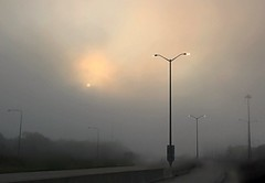 Streets of Jupiter (Bo Dudas) Tags: fog mist cloud mystery post lamp lampost road surreal surrealism composition