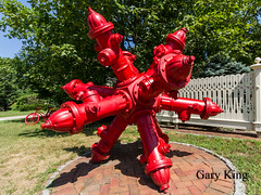 Hydrant Sculpture (Gary/-King) Tags: 2018 shelburne august hydrants jack sculpture vermont
