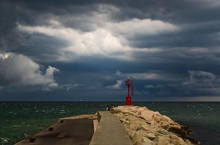 Tempesta in arrivo su Gabicce Mare e Cattolica (Italy)