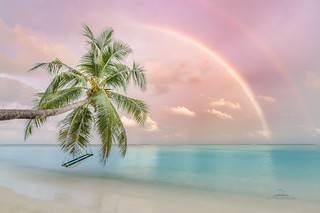Rainbow and waves
