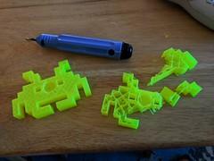 DestructiveTestingSpaceInvader (Chris S Hardwick) Tags: 3d printing destructive testing