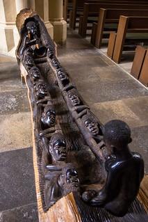 Ein sogenanntes Weihnachtsboot aus der Makonde-Region aus Tansania / Ebenholz