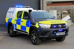 Cumbria Police Toyota Hilux Rural Response Vehicle (PFB-999) Tags: cumbria police toyota hilux pickup truck 4x4 rural response vehicle car unit lightbar grilles fendoffs leds px18oyn