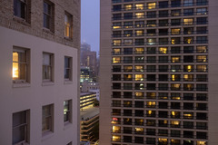 Evening Gateway View (-Dons) Tags: california sanfrancisco unitedstates ca usa evening night window light tower building downtown