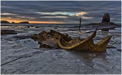 Last light,Saltwick Bay (Antony Ward) Tags: sunset hdrimages saltwickbay blacknab whitby admiralvontromp