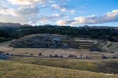 Sacsayhuaman at sunset (E. Aguedo) Tags: fort fortress military sunset clouds ruins architecture archeology cusco peru south america inca empire forest