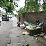 Shelbourne Road - broken sofa & assorted bags thumbnail