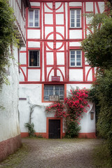Mosel Impressions [08 of 12] (Michael A64) Tags: altes rathaus pünderich mosel haus house old townhall nature color red weg fassade tür fenster
