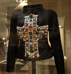 """""""Gold-Gotha"""" ensemble, Christian Lacroix, Fall 1988 Haute Couture (battyward) Tags: met fashion couture heavenly bodies nyc lacroix leather cross jeweled"""
