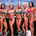 Open Bikini Short 4th Rhonda Gunderson 2nd Alison Walker 1st Amanda Dear 3rd Amanda Koop 5th Dina Windsor