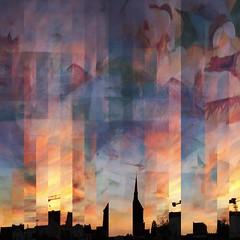 365_Day 217 Sunset (karen axelrad (karenaxe)) Tags: painterly theneweramuseum iphoneography 365project 365 delaunay1941 pablomarki hipstamatic