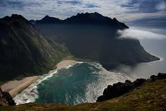 Kvalvika (DoctorMP) Tags: lofoten norway nordland moskenesoya kvalvika bay beach atlantic ocean clouds hiking ryten outdoors summer mountains