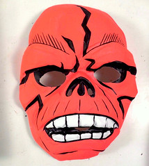 Red Skull (Brechtbug) Tags: skeleton head masks halloween vintage skull skulls grinning hell hellions screen grab ben cooper collegeville halco mask island lost souls holiday costume creature vamp undead skeletons zombie outfit monsters cadaver its alive scary horror terror fright toy toys moody shadow shadows face portrait movie film hollywood transylvania collectable collectible heads