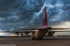 Ein Gewitter zieht auf HAJ 280718 (U. Heinze) Tags: aircraft airlines airways flugzeug planespotting plane haj hannoverlangenhagenairporthaj sky himmel nikon eddv