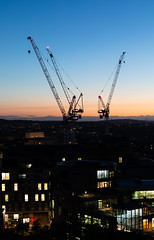 Edinburgh Skyline (Chris S B) Tags: edinburghscotlandunitedkingdomgb caltonhill constructioncranes bluehour skyline