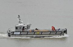 Diveco 5 (3) @ Gallions Reach 14-08-18 (AJBC_1) Tags: riverthames gallionsreach northwoolwich newham londonboroughofnewham eastlondon london england greatbritain unitedkingdom gb uk vessel boat landingcraft diveco5 workboat ©ajc ajbc1 nikond3200 dlrblog