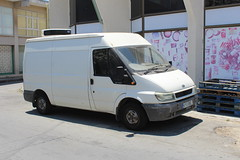 White van man. (steve vallance coach and bus) Tags: kyu082 fordtransit larnaca cyprus